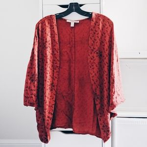FOREVER 21 | BOHO RUST ORANGE CARDIGAN